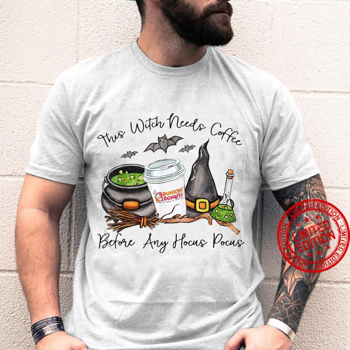 Witch Friends Love Coffee Halloween Shirt