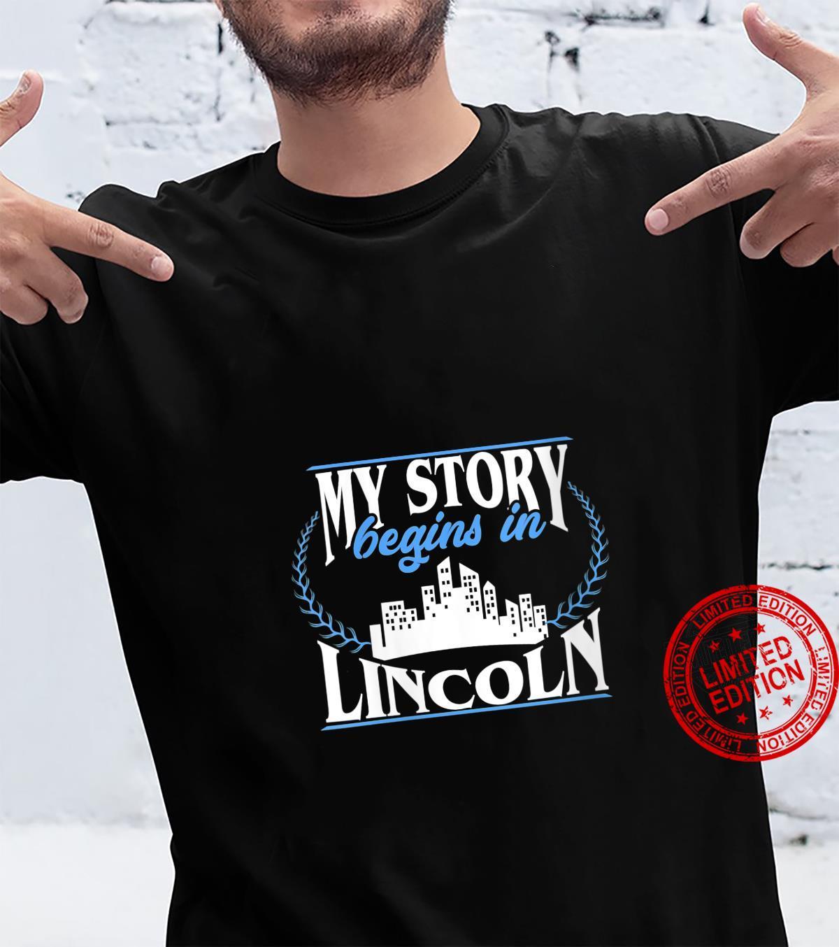 Womens Born in Lincoln Shirt
