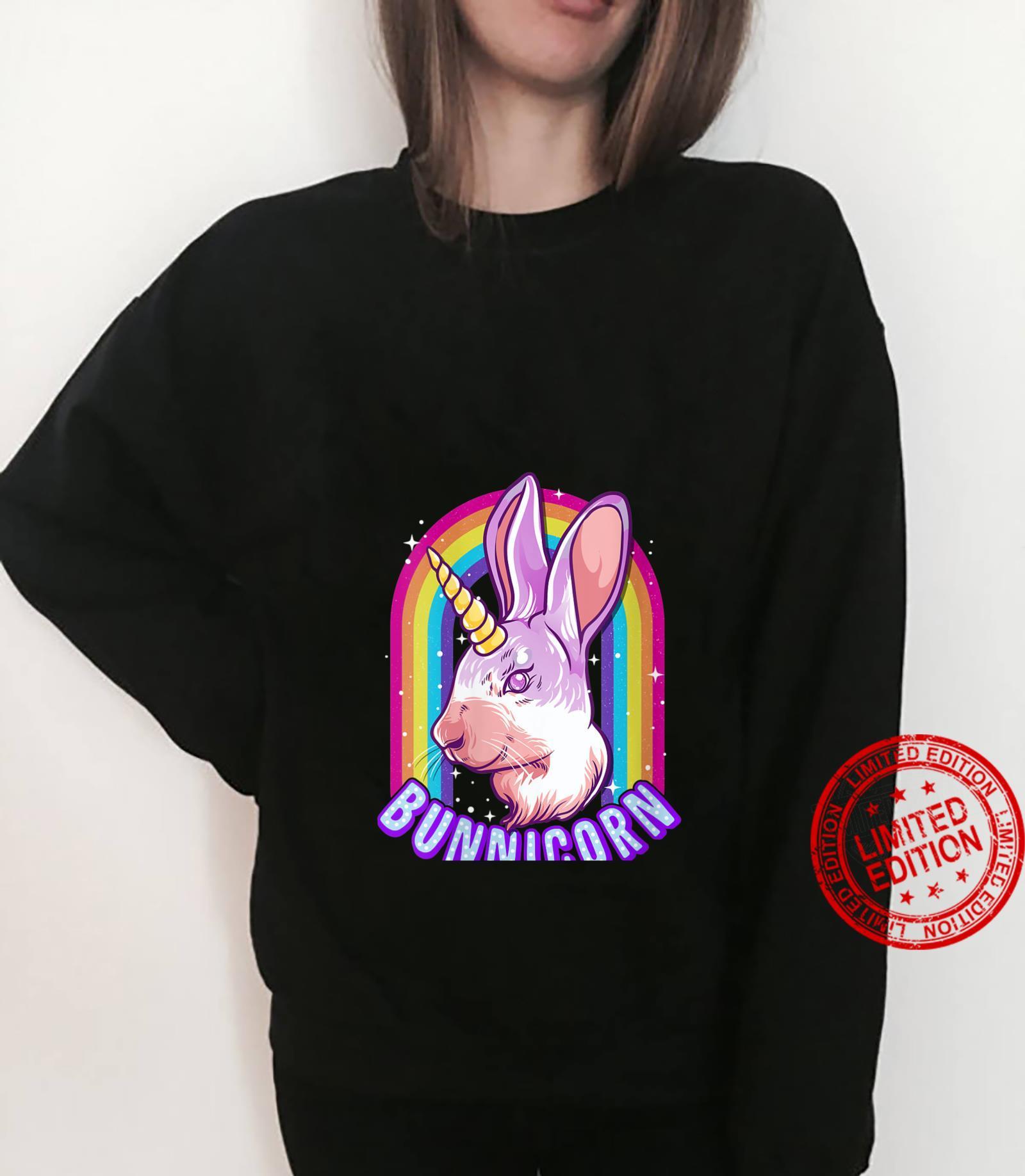 Womens Bunnicorn Rainbow Cute Bunny Rabbit Unicorn Shirt sweater