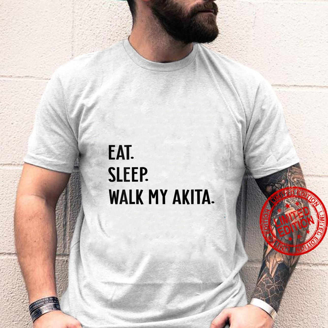 Womens Dog Eat Sleep Walk My Akita Dog Shirt
