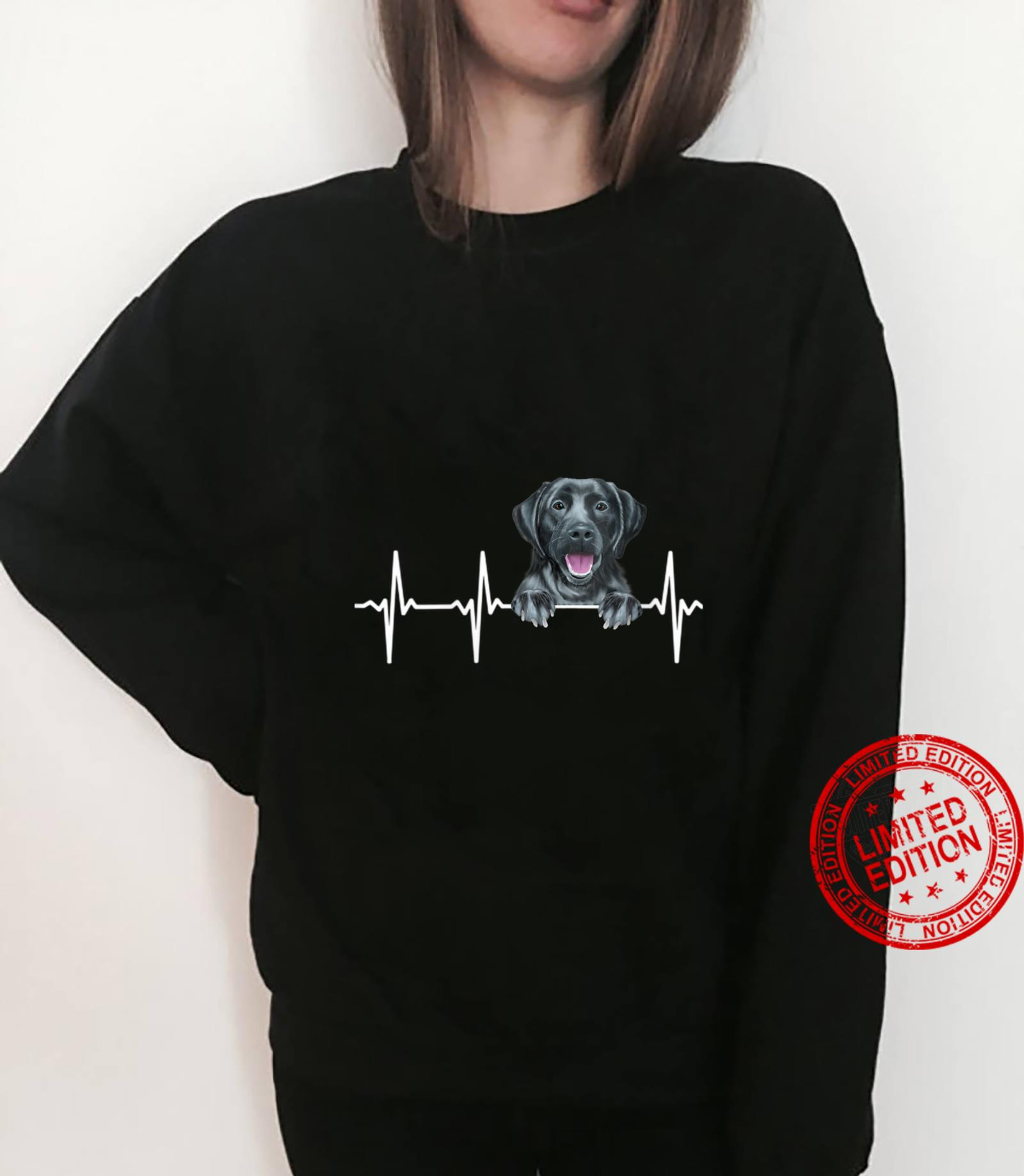 Womens Dog Heartbeat For Black Labrador Retrievers Shirt sweater
