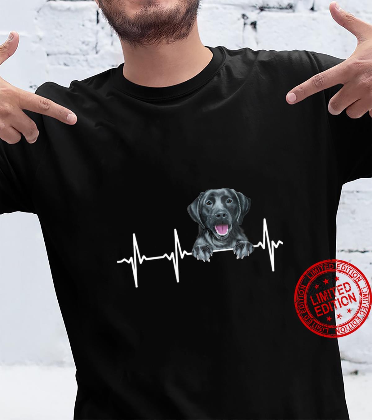 Womens Dog Heartbeat For Black Labrador Retrievers Shirt