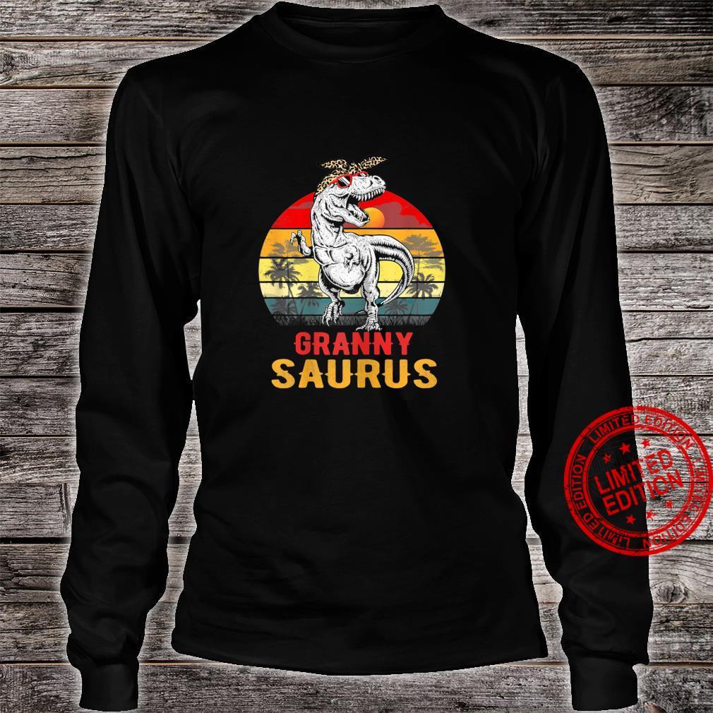 Womens Grannysaurus T Rex Dinosaur Granny Saurus Mothers Day Shirt long sleeved