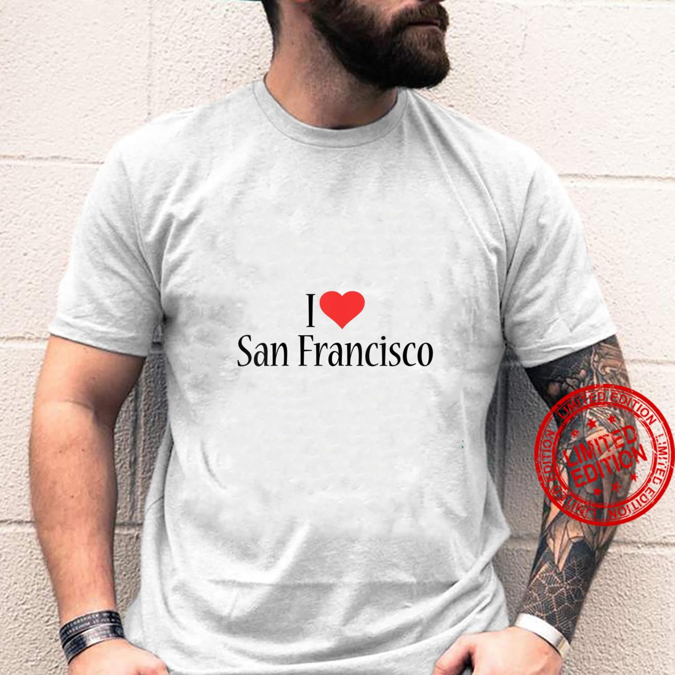 Womens I Love San Francisco CALIFORNIA Heart City State Combination Shirt