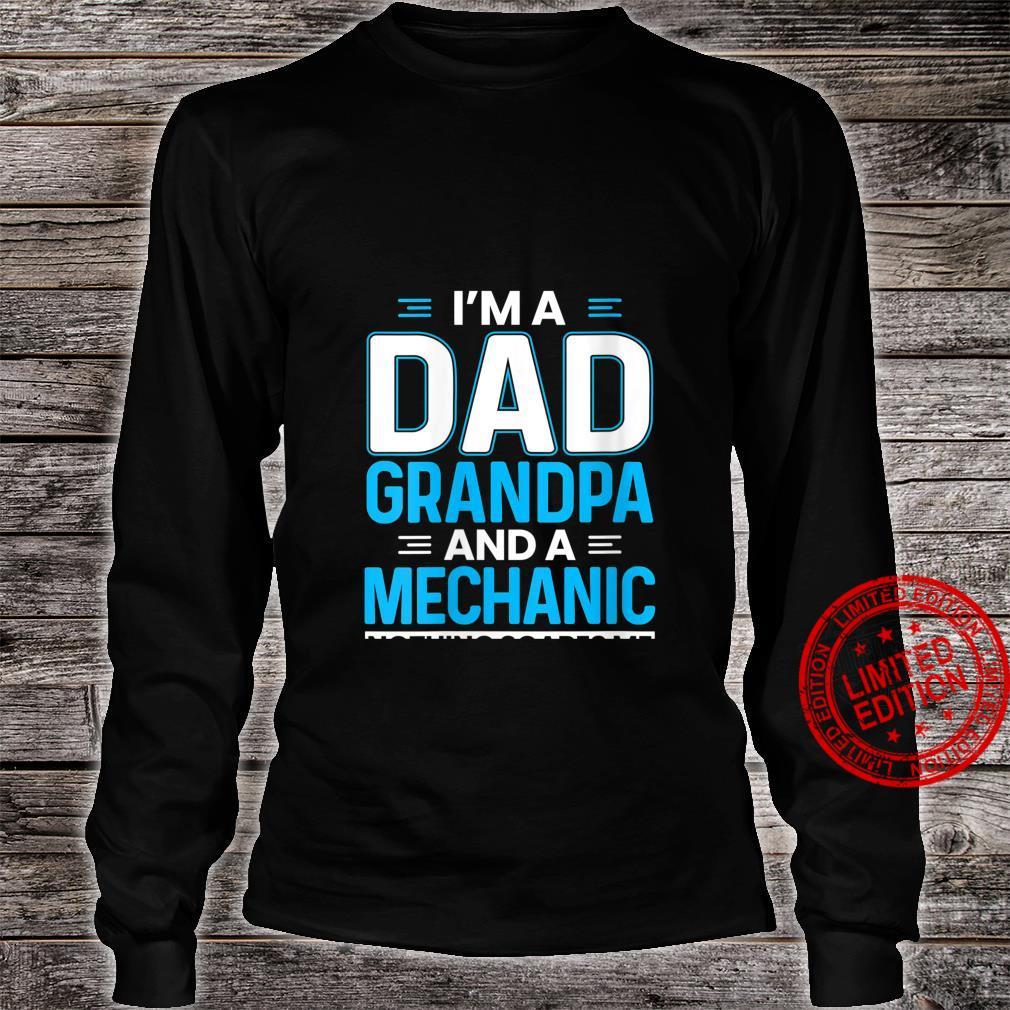 Womens I'm A Dad Grandpa And A Mechanic Grandpa Car Mechanic Shirt long sleeved