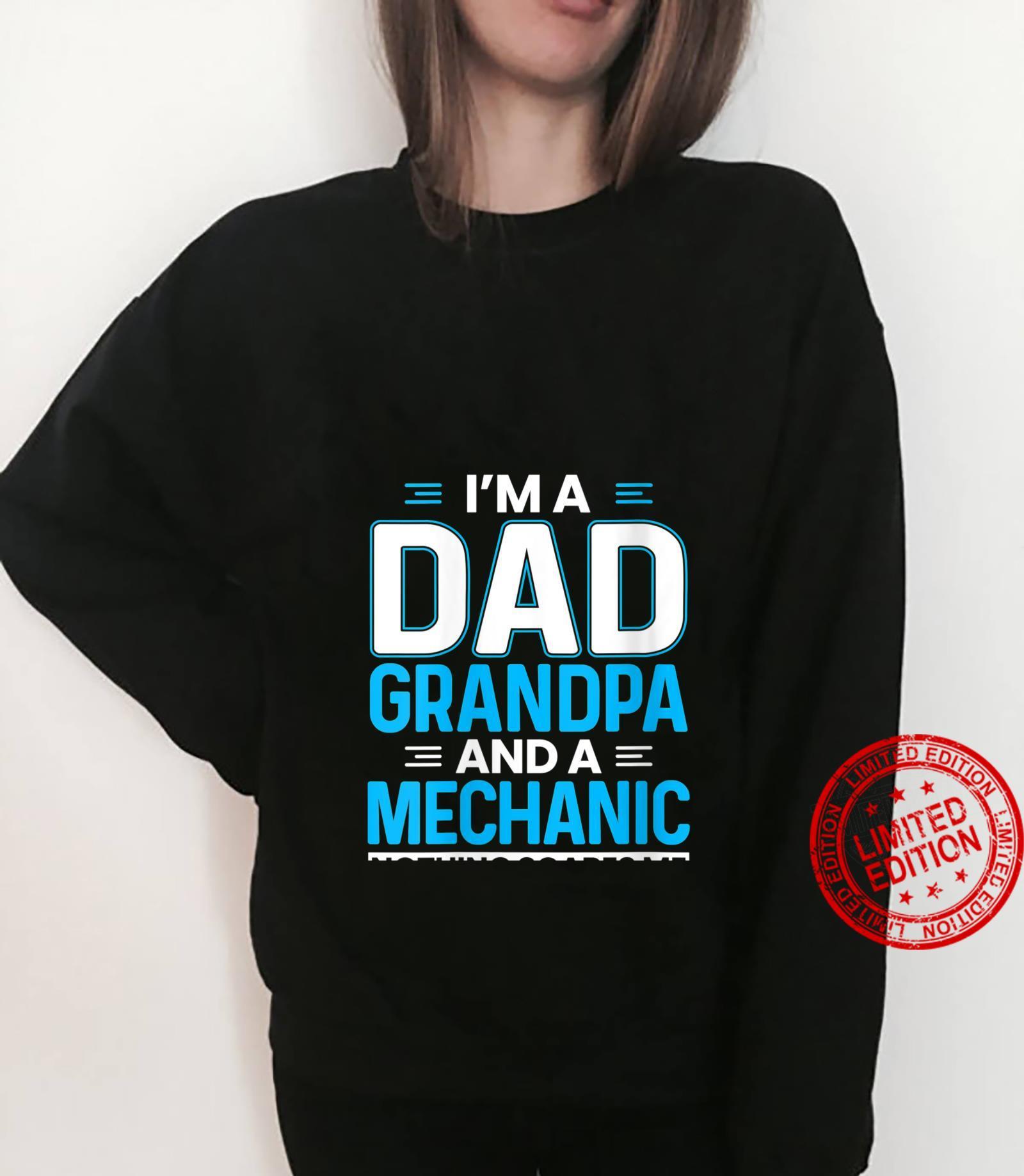 Womens I'm A Dad Grandpa And A Mechanic Grandpa Car Mechanic Shirt sweater