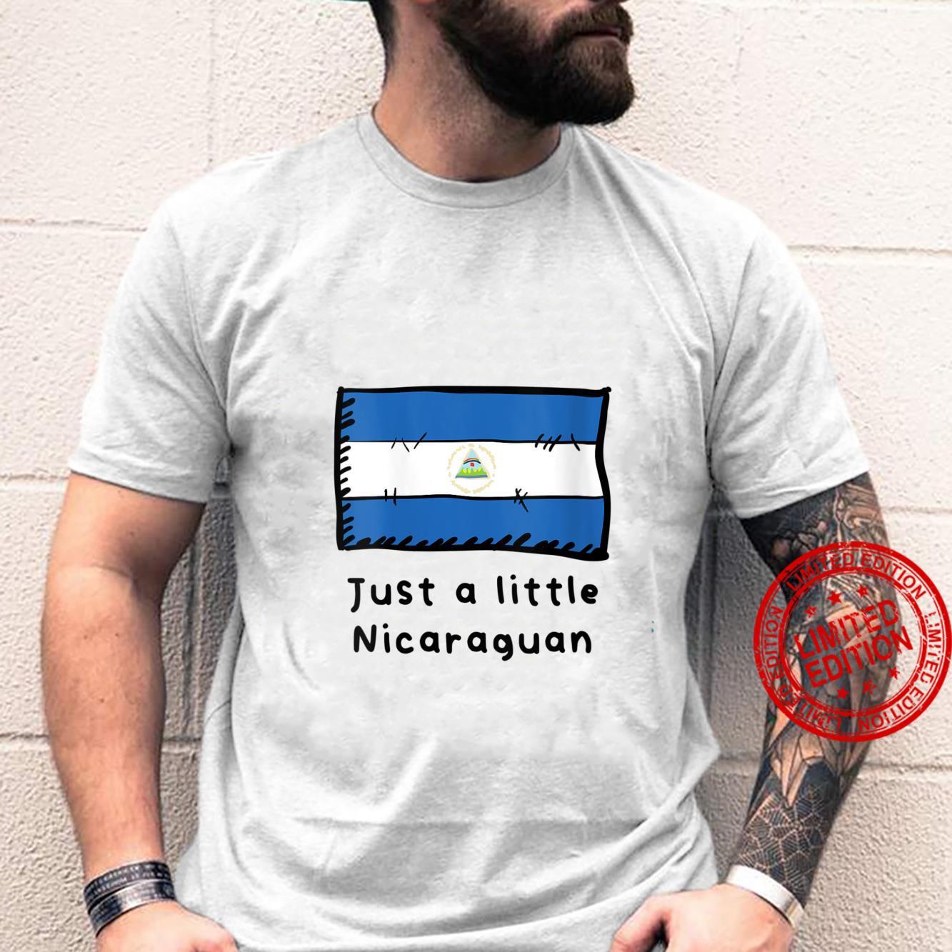 Womens Just A Little Nicaraguan Cute Nicaragua Flag Shirt