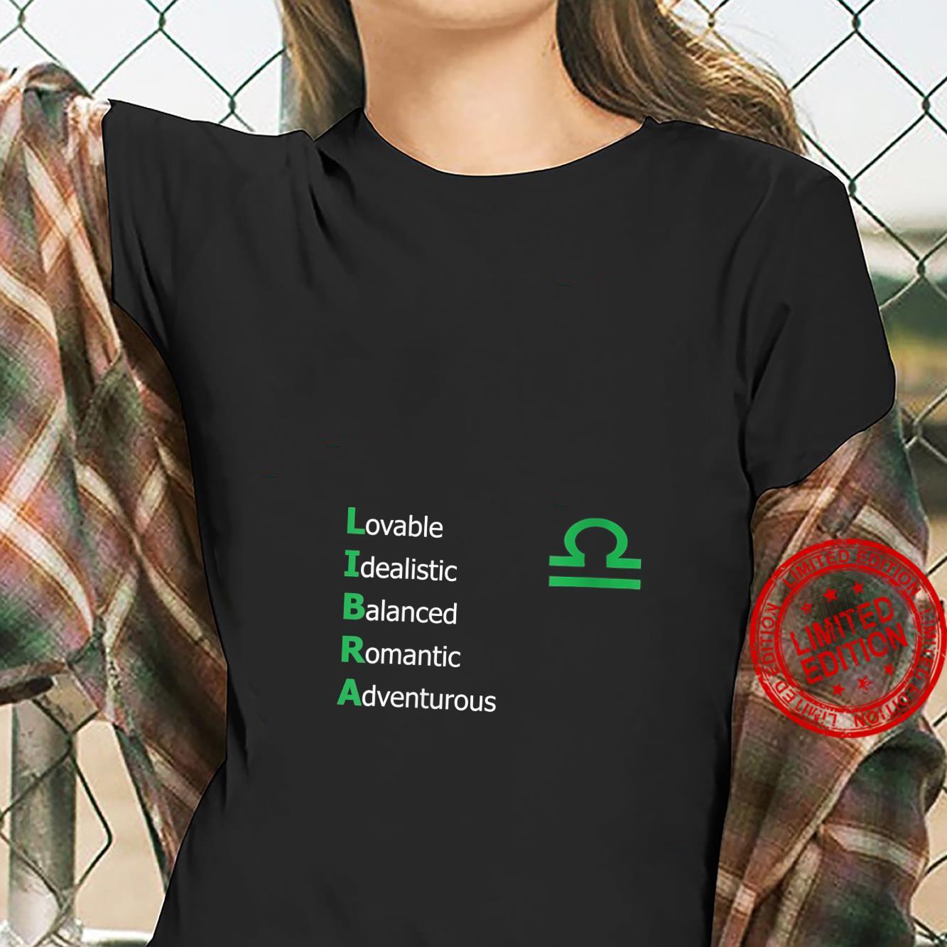 Womens Libra Personality Astrology Zodiac Sign Horoscope Design Shirt ladies tee