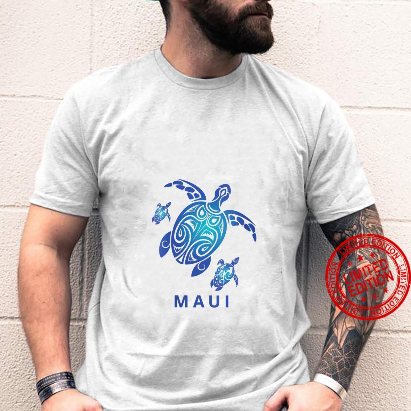 Womens Maui Honu Mom Turtle with Baby Turtles Shirt