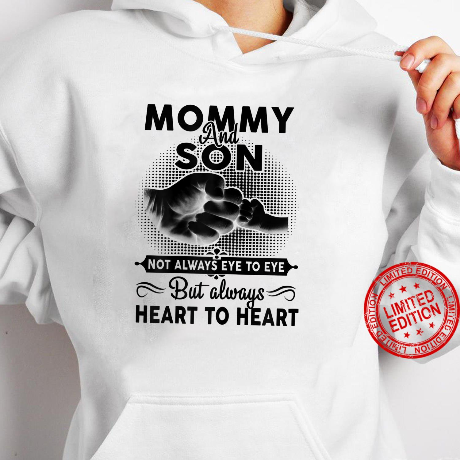 Womens Mommy And Son Not Always Eye To Eye Mother's Day Shirt hoodie