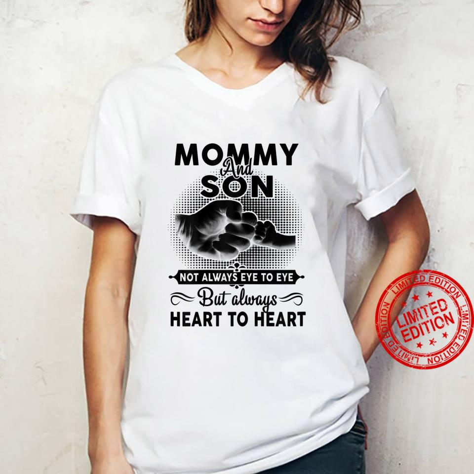 Womens Mommy And Son Not Always Eye To Eye Mother's Day Shirt ladies tee