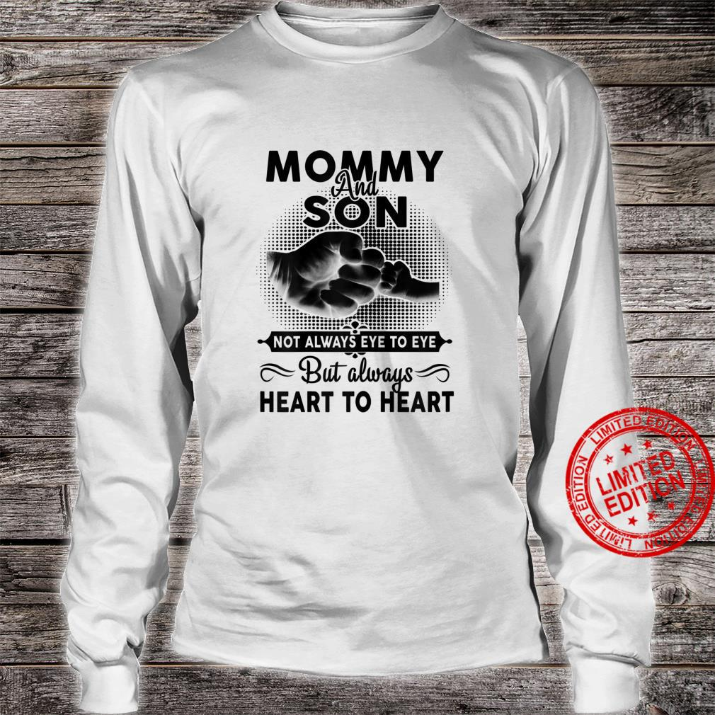 Womens Mommy And Son Not Always Eye To Eye Mother's Day Shirt long sleeved