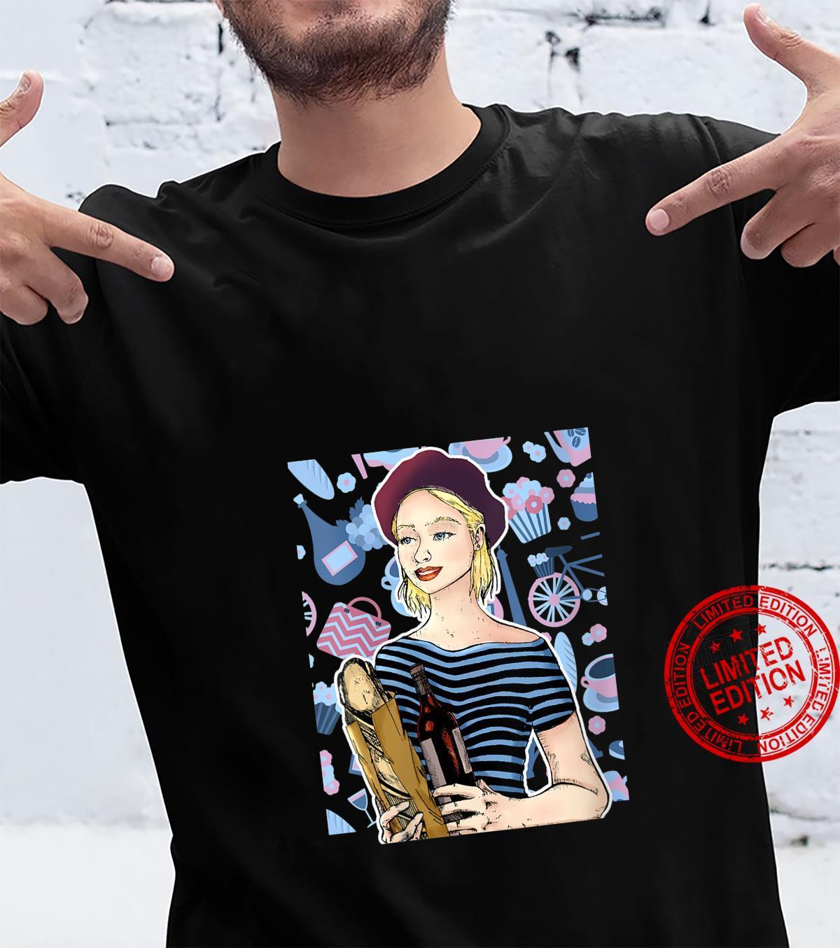 Womens Pretty French Madame Mademoiselle Shirt