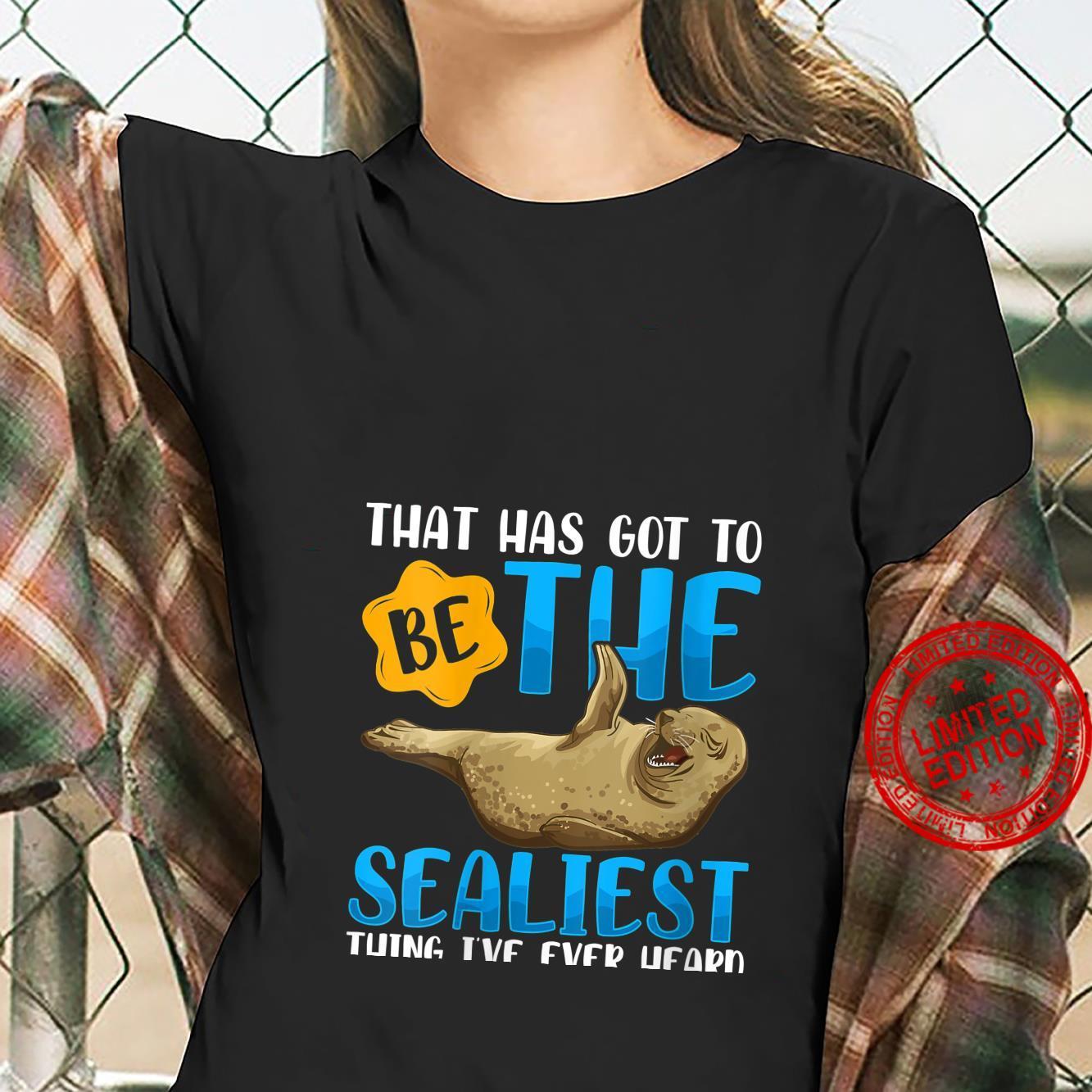 Womens Seal Meme Silly Pun Joke Parody Shirt ladies tee