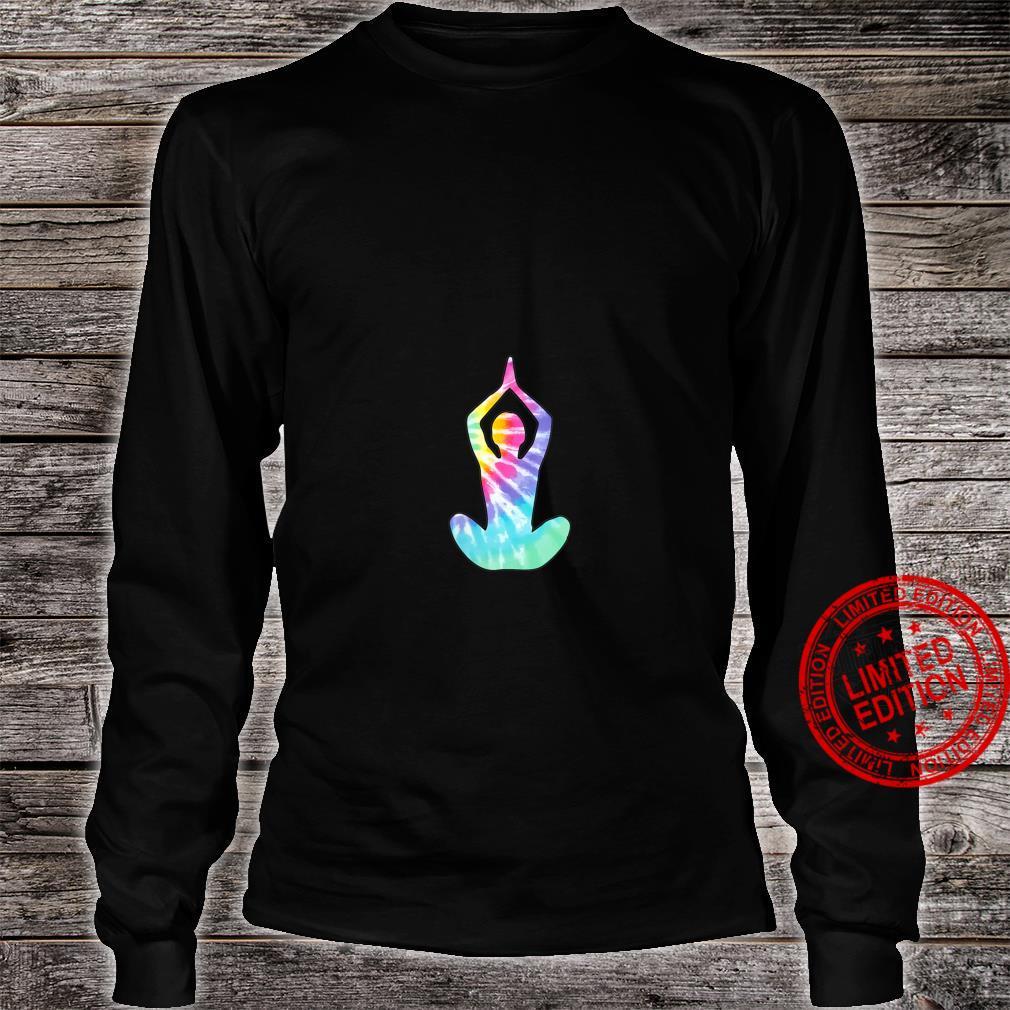 Womens Tie Dye Yoga Sitting Pose Shirt long sleeved
