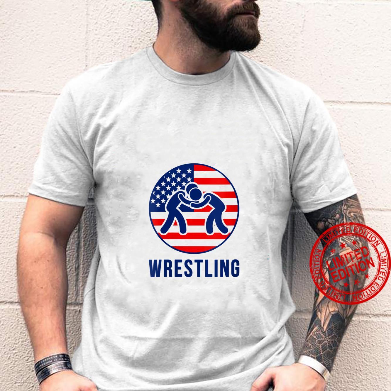 Womens USA Wrestling American Flag Shirt