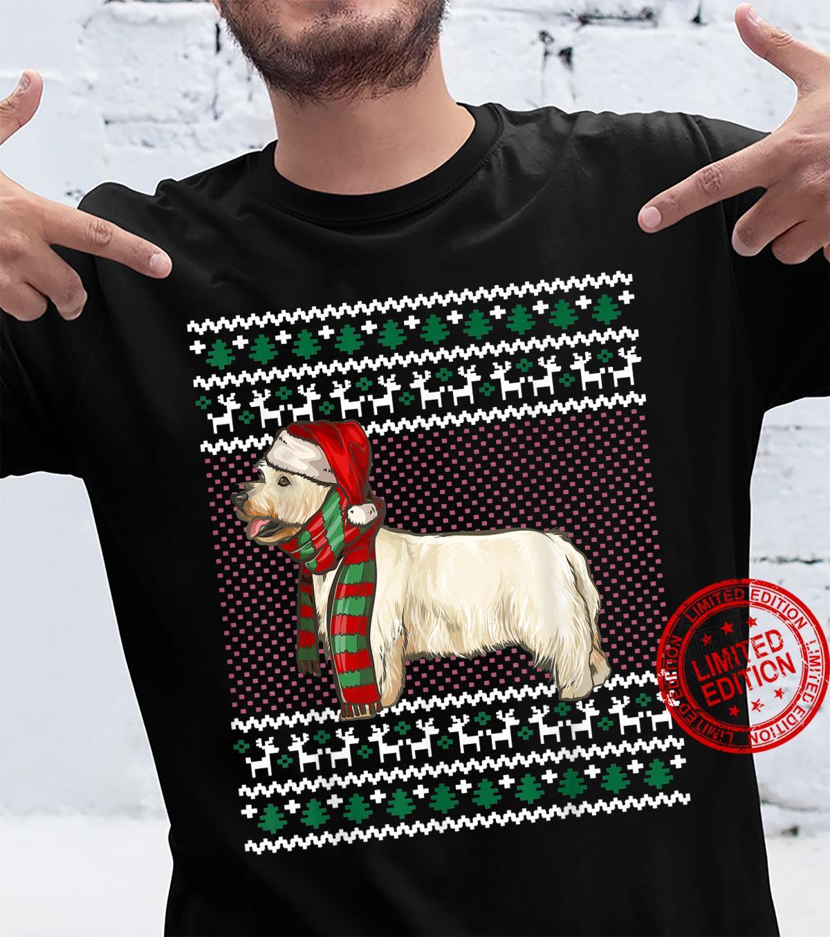 Xmas West Highland White Terrier Dog Santa Ugly Christmas Shirt