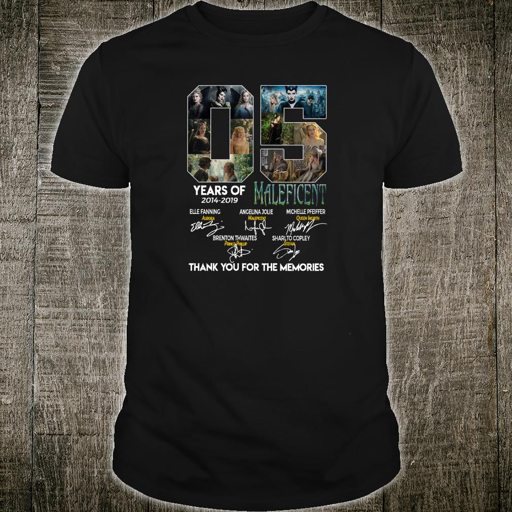 05 years of Maleficent 2014 2019 signatures shirt