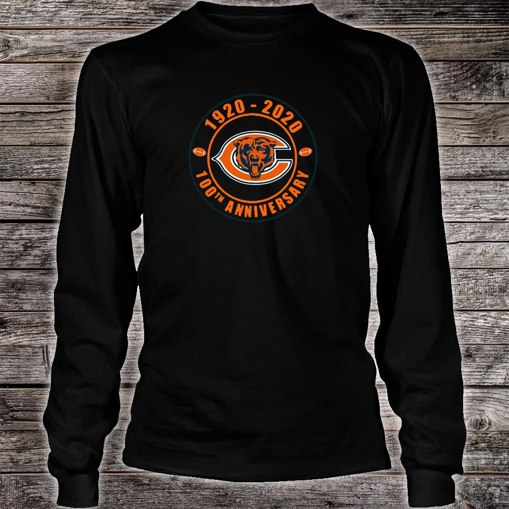 1920 2020 100th anniversary of Chicago Bears shirt long sleeved