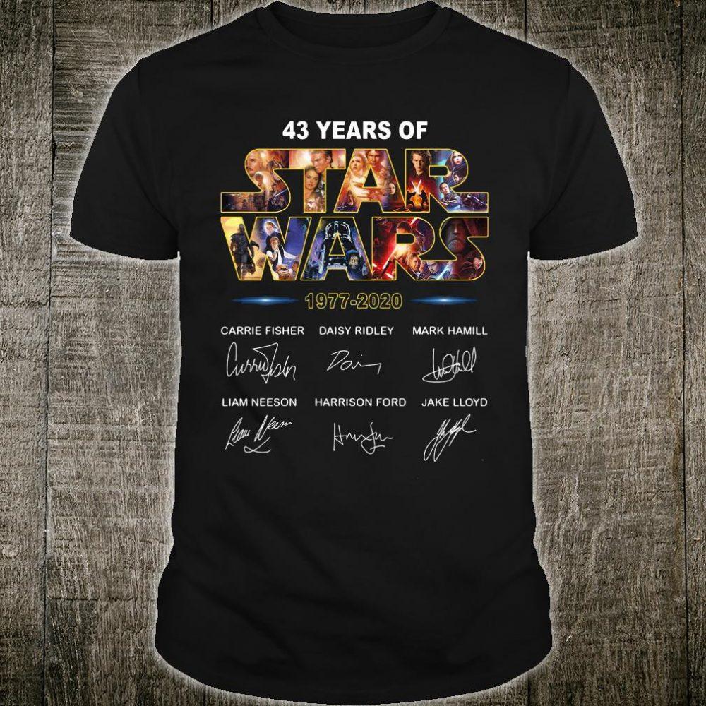 43 years of Star Wars 1977 2020 signatures shirt
