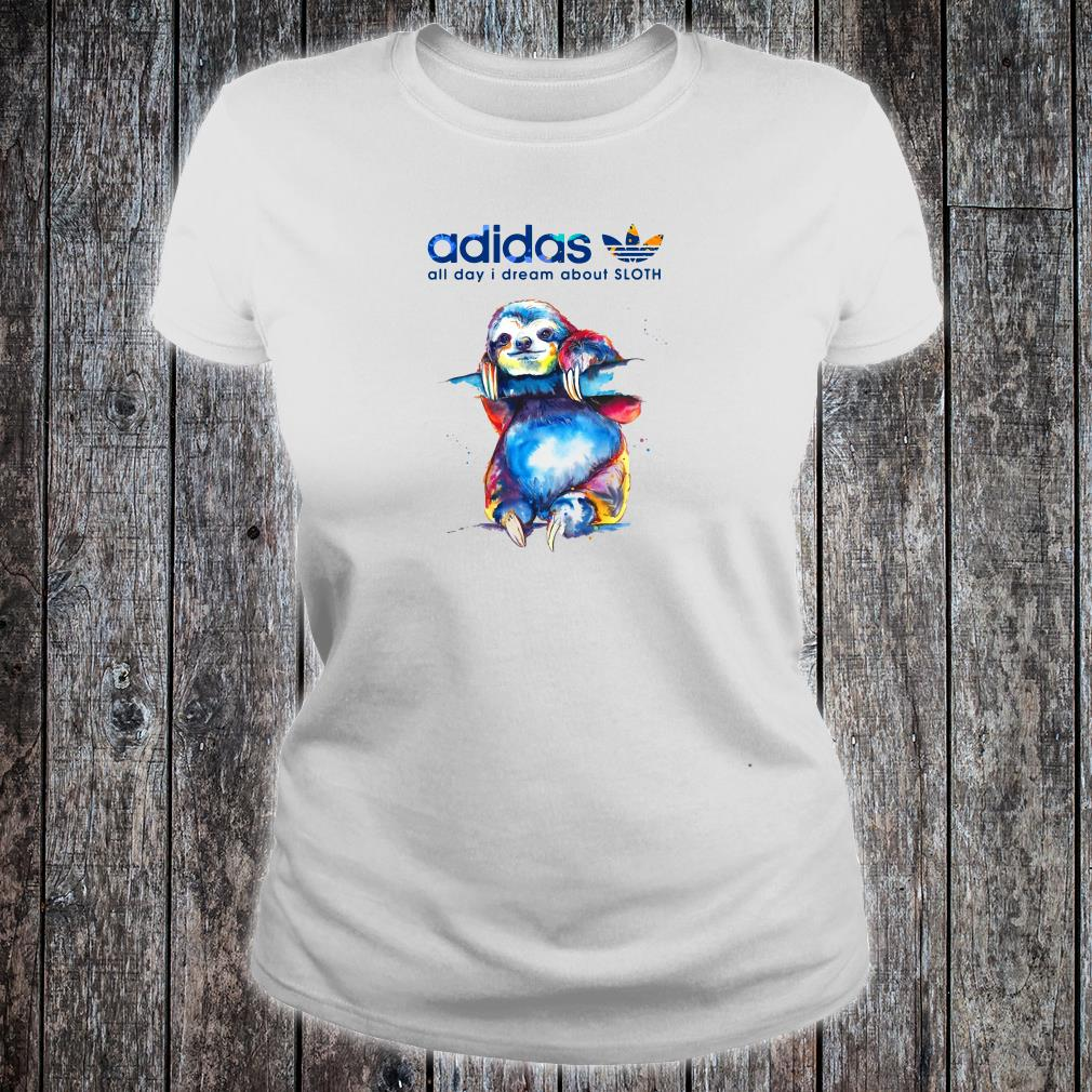Adidas all day i dream about sloth shirt ladies tee