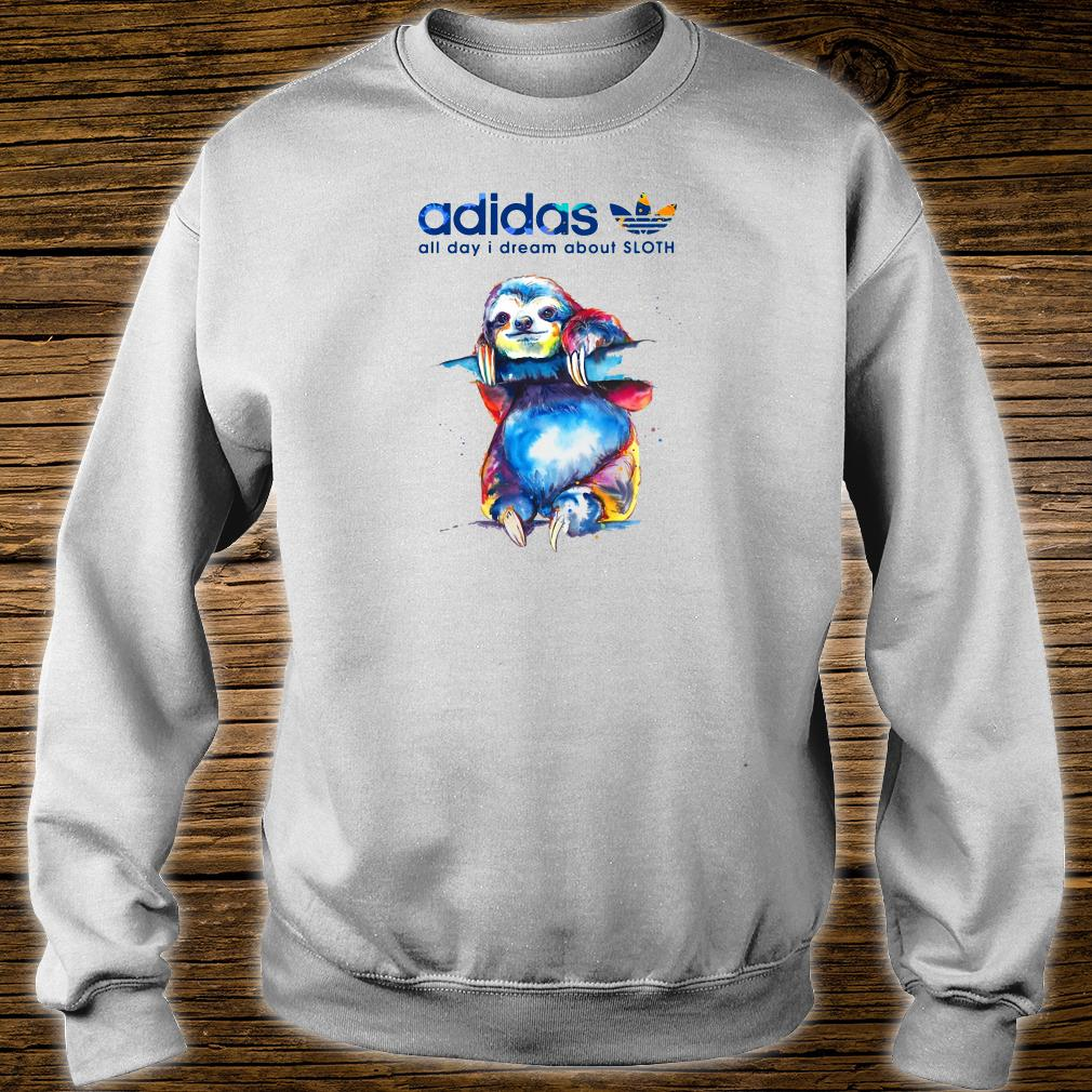 Adidas all day i dream about sloth shirt sweater