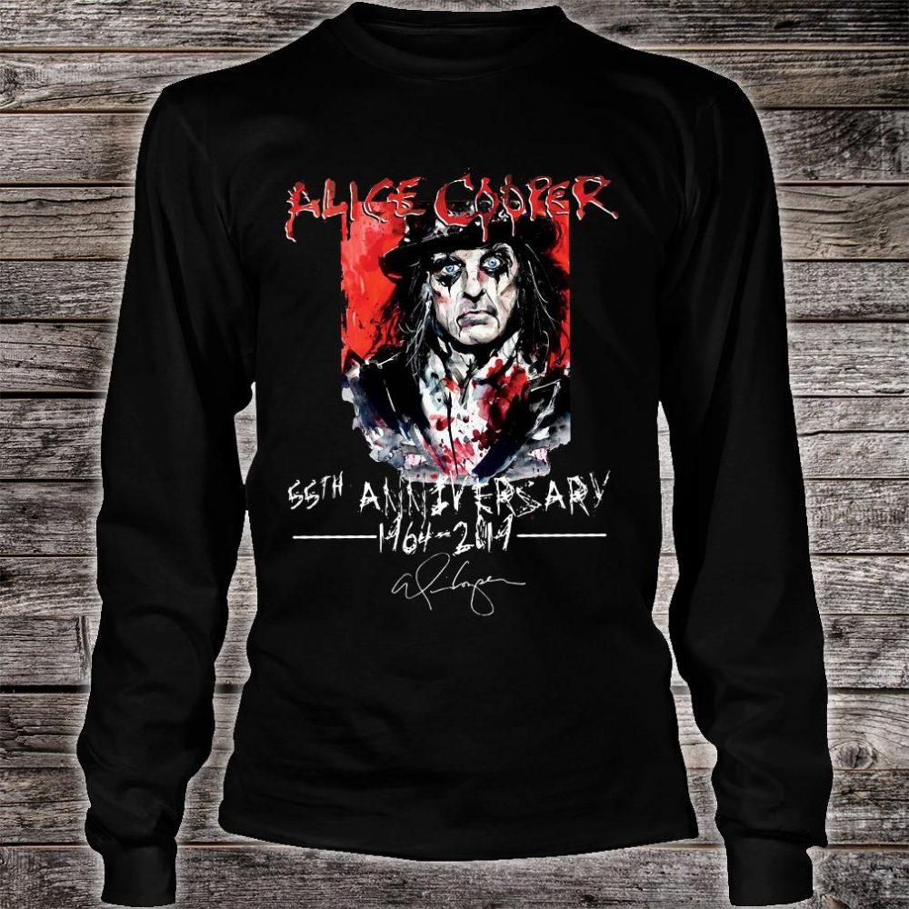 Alice Cooper 55th anniversary 1964 2019 shirt long sleeved