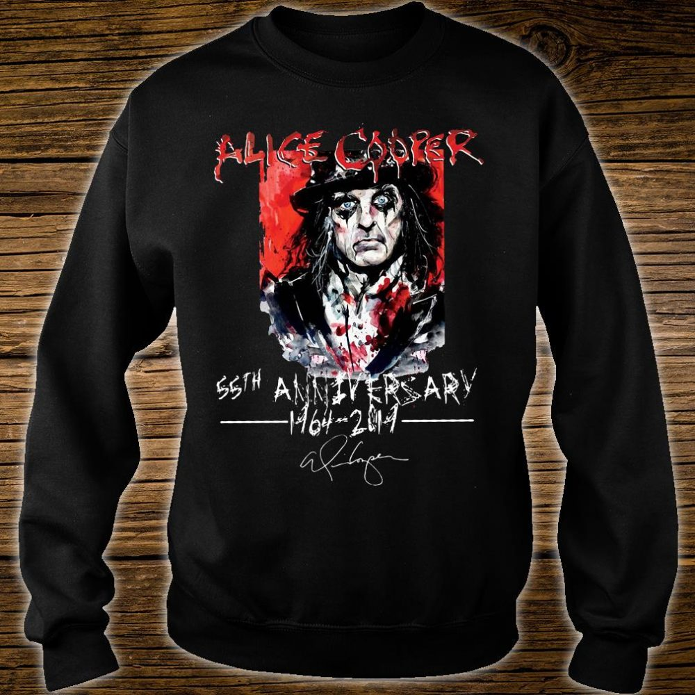 Alice Cooper 55th anniversary 1964 2019 shirt sweater