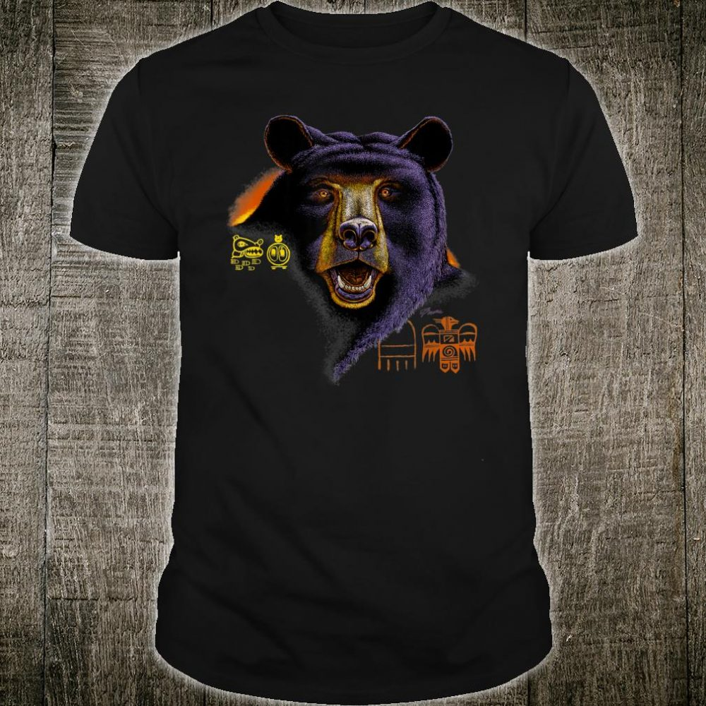 Animal Wildlife Nature Bear with Native American symbols Shirt