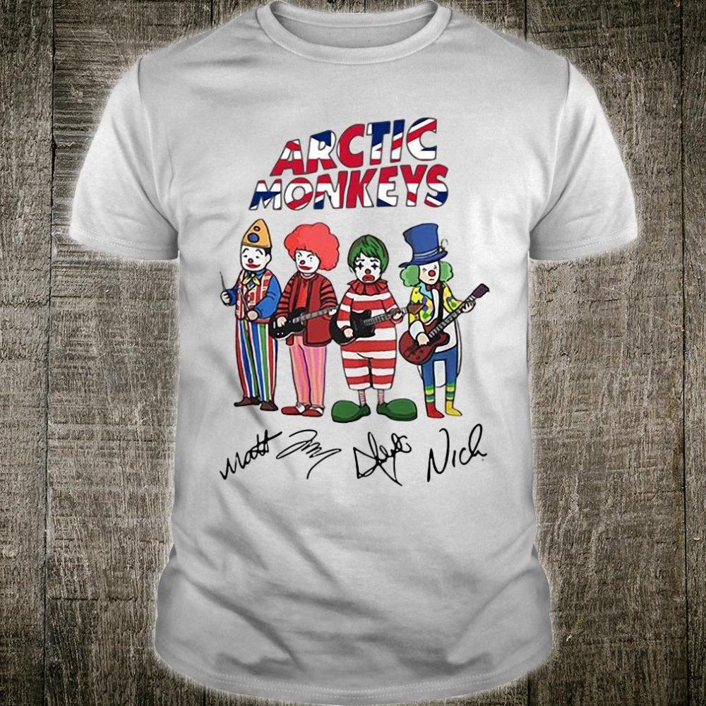 Arctic Monkey signatures shirt