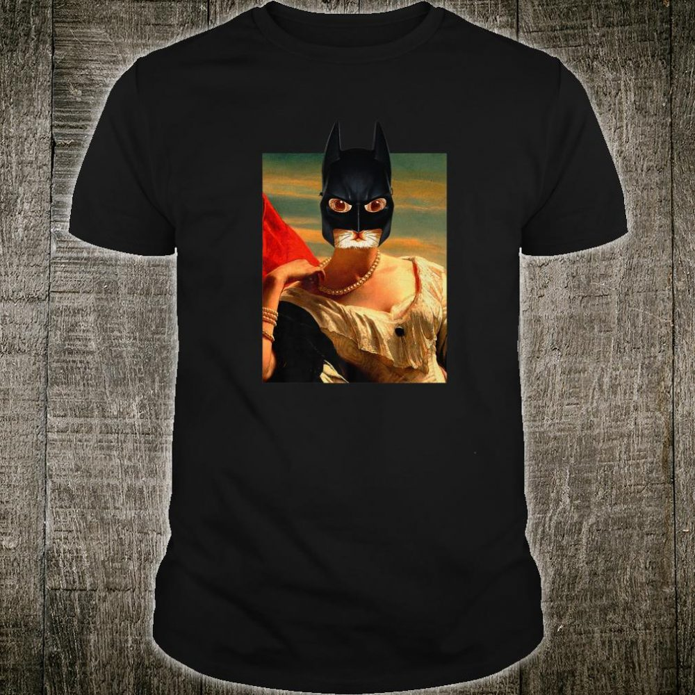 Art Cat Face Famous Painting Surreal Collage Shirt