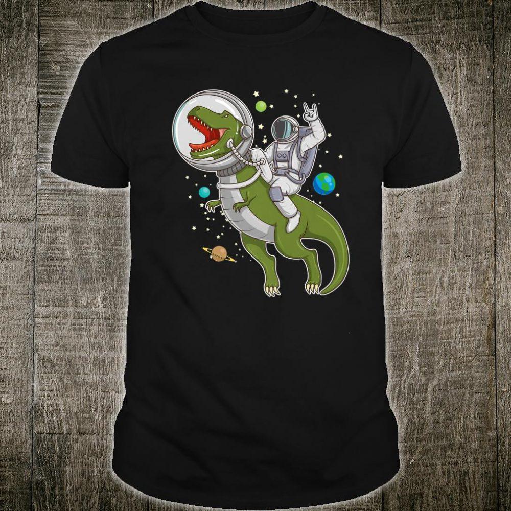 Astronaut Riding TRex Dinosaur Astro TRex Space Shirt