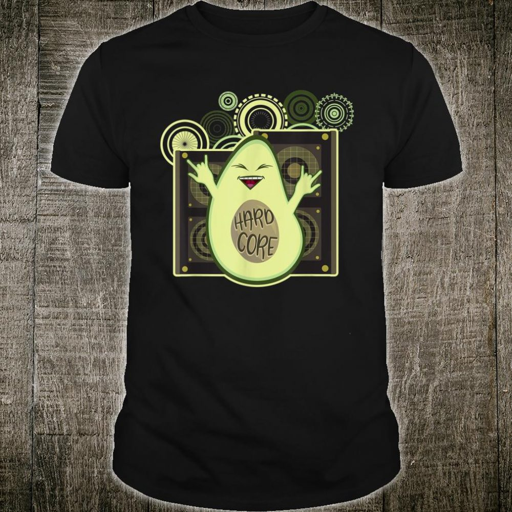 Avocado Addict Hard Core Rocking Music Shirt