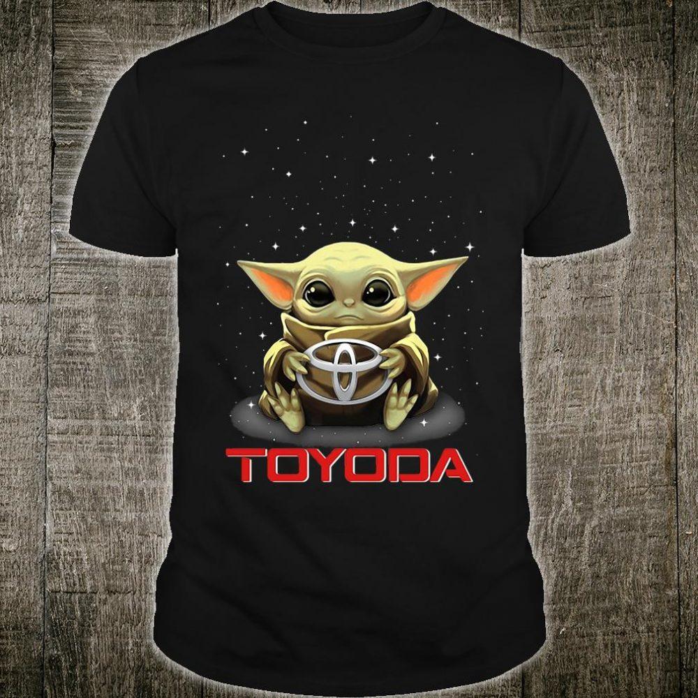 Baby Yoda hug Toyota logo shirt