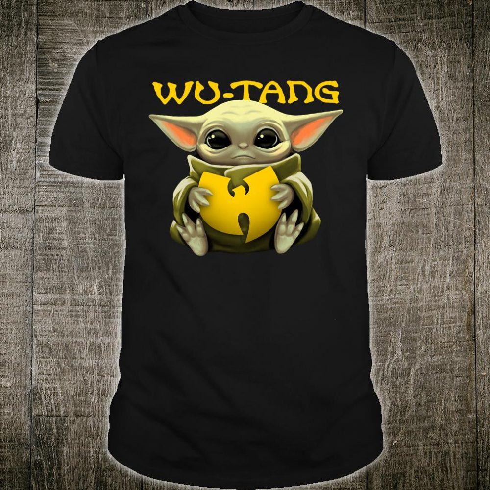 Baby Yoda hug Wu Tang logo shirt