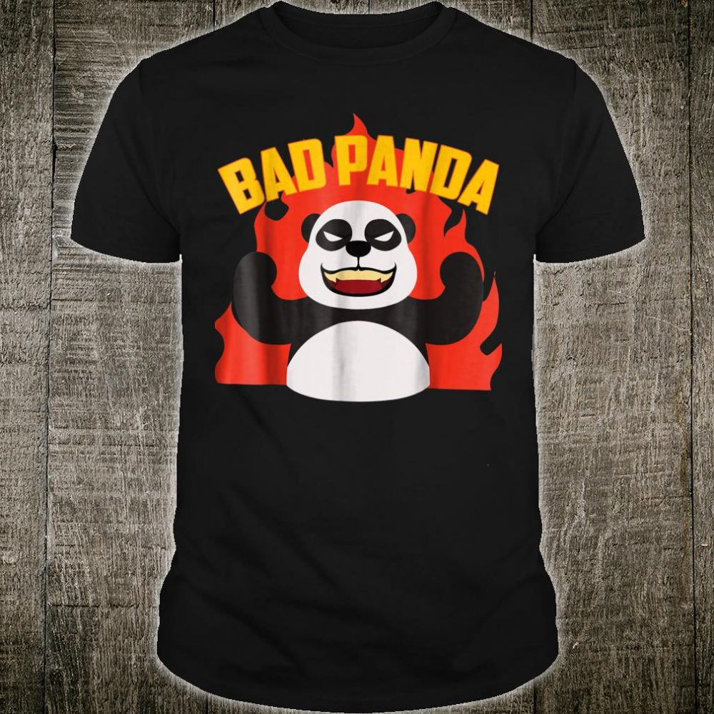 Bad Panda Shirt Scary Panda Bear Black White Pandamonium Shirt