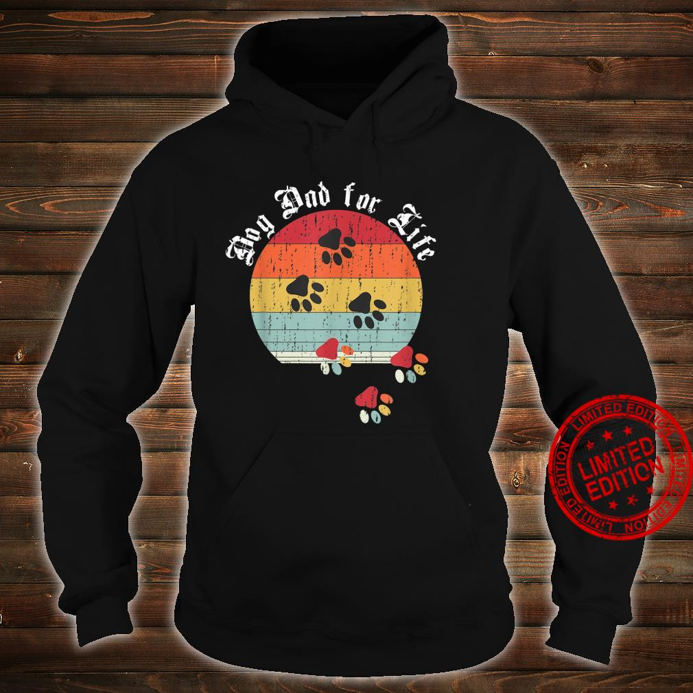 Best Dog Dad Ever Classic Distressed Retro Dog Dad for Life Shirt hoodie