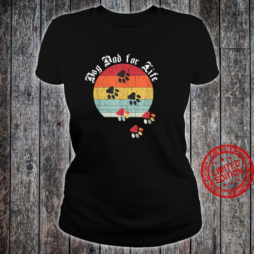 Best Dog Dad Ever Classic Distressed Retro Dog Dad for Life Shirt ladies tee