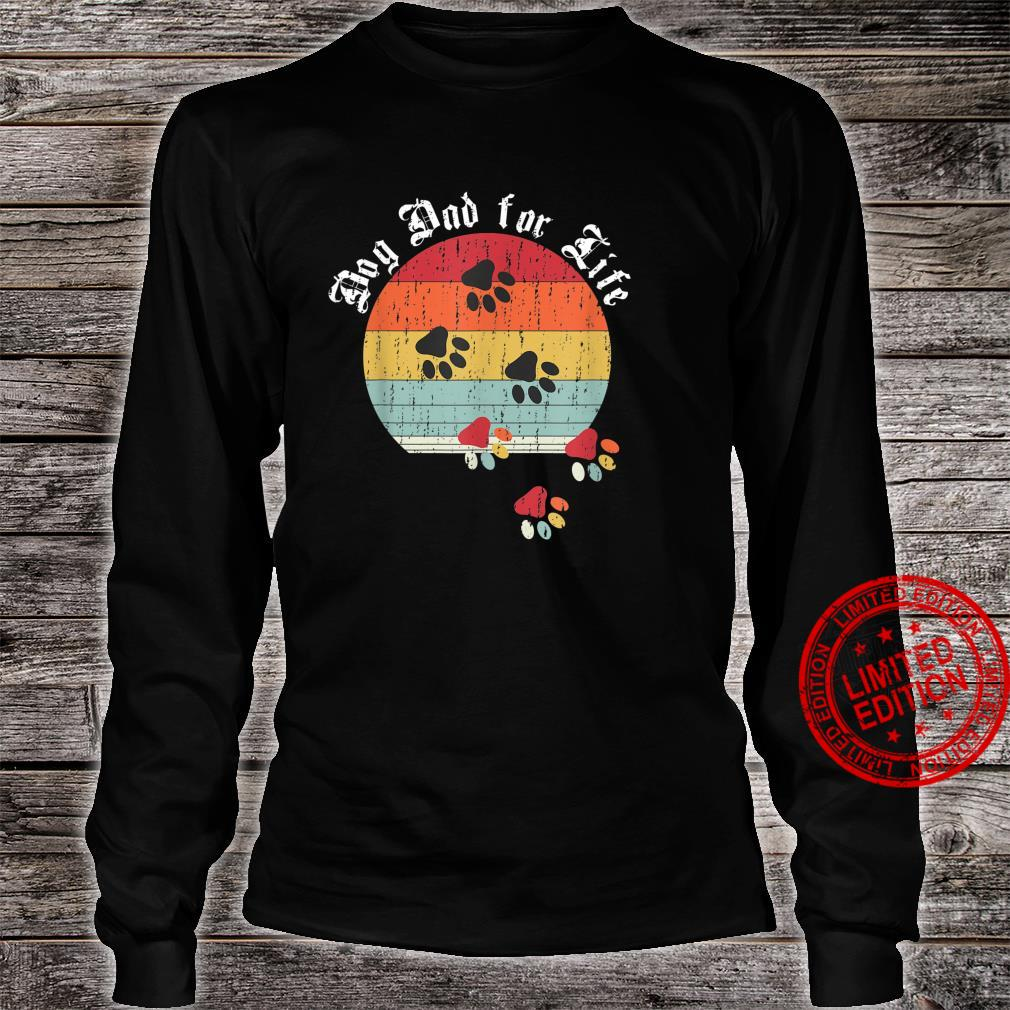 Best Dog Dad Ever Classic Distressed Retro Dog Dad for Life Shirt long sleeved