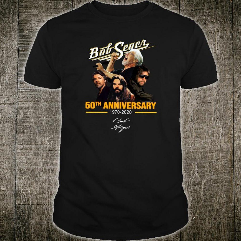 Bob Seger 50th anniversary 1970 2020 shirt