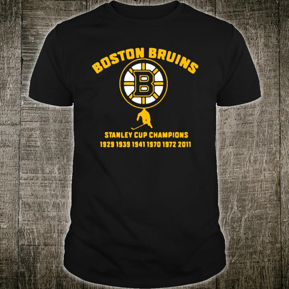 Boston Bruins stanley cup champions 1929 1939 1941 1970 1972 2011 shirt