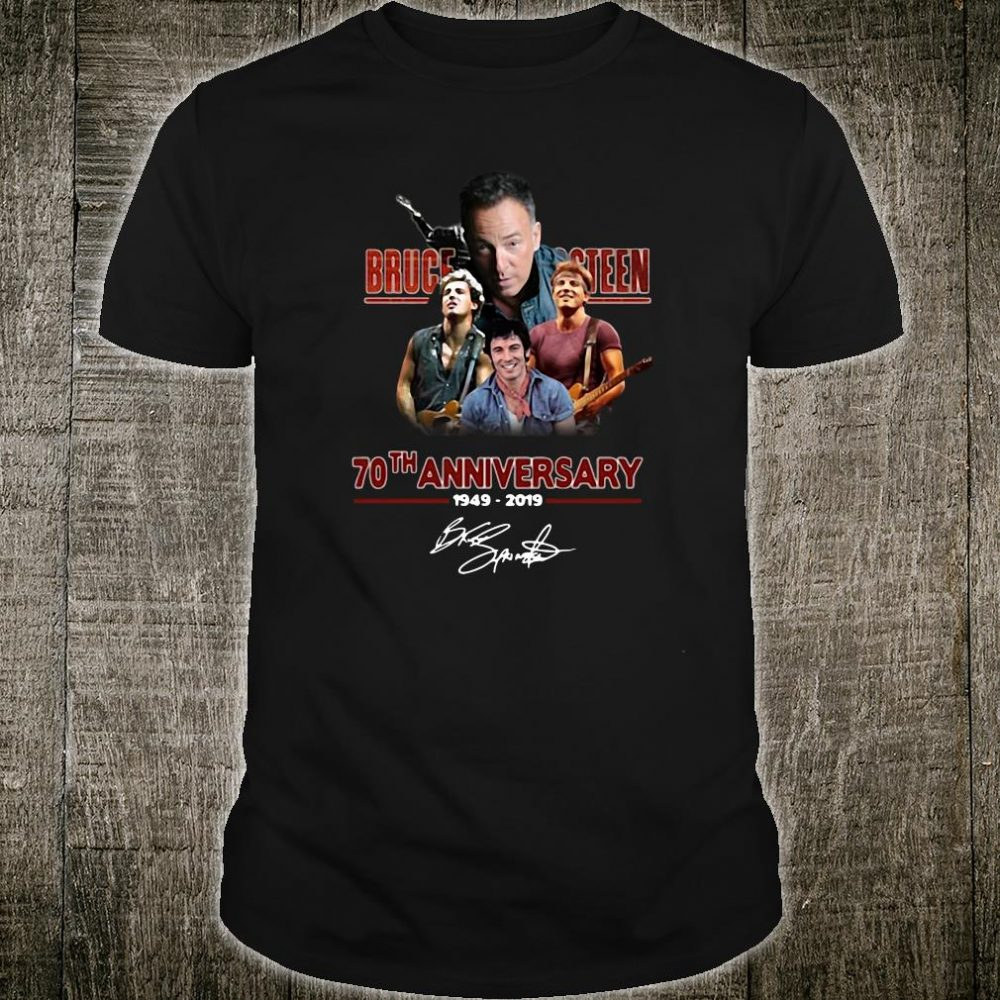 Bruce Springsteen 70th anniversary 1919-2019 signature shirt