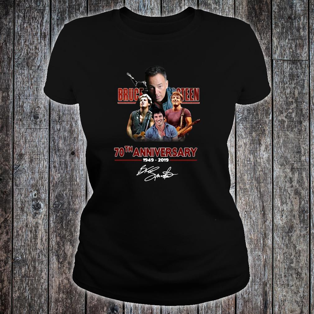 Bruce Springsteen 70th anniversary 1919-2019 signature shirt ladies tee
