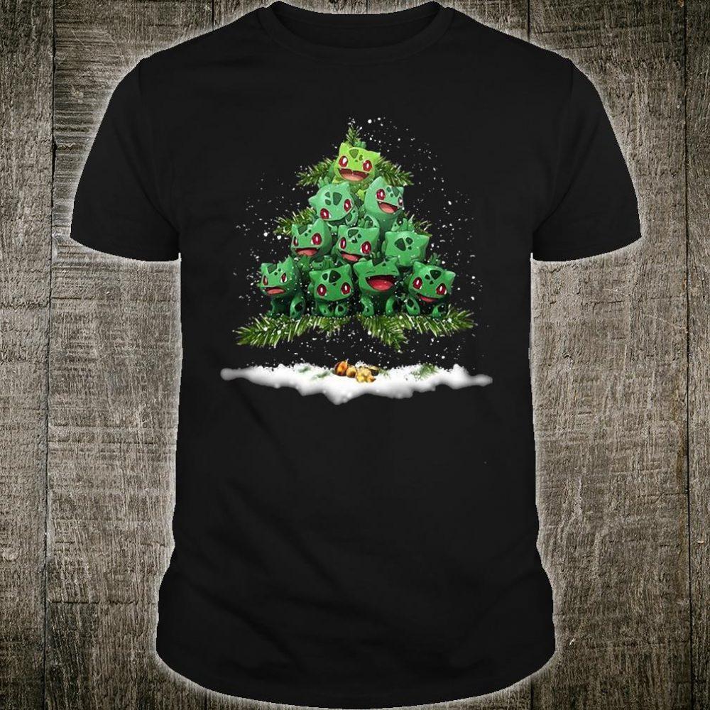 Bulbasaur Pokemon christmas tree shirt