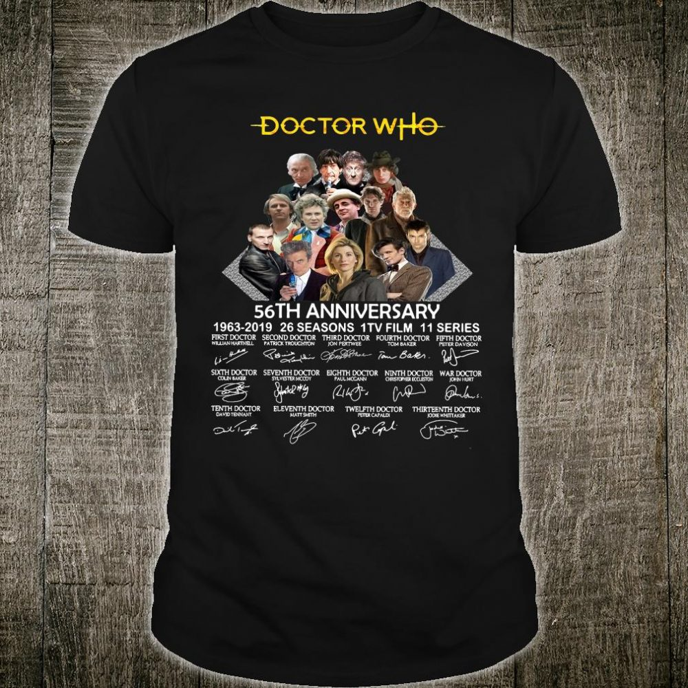 Doctor Who 56th anniversary 1963 2019 26 seasons 1TV film 11 series signatures shirt