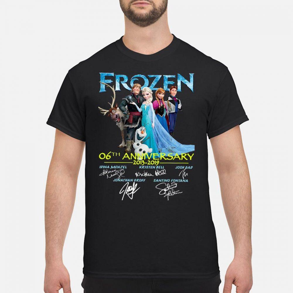 Frozen 6th anniversary 2013 2019 signatures shirt