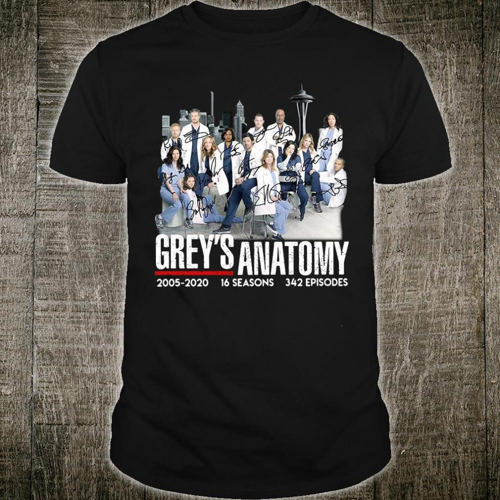 Grey's Anatomy 2005 2020 16 seasons 342 episodes shirt