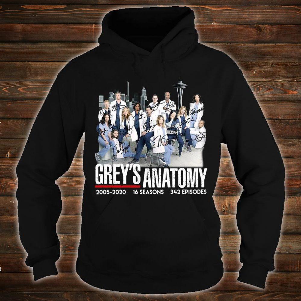 Grey's Anatomy 2005 2020 16 seasons 342 episodes shirt hoodie