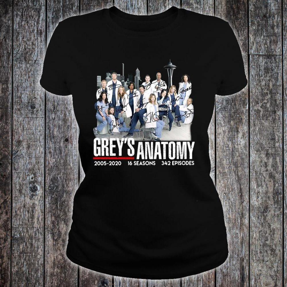 Grey's Anatomy 2005 2020 16 seasons 342 episodes shirt ladies tee