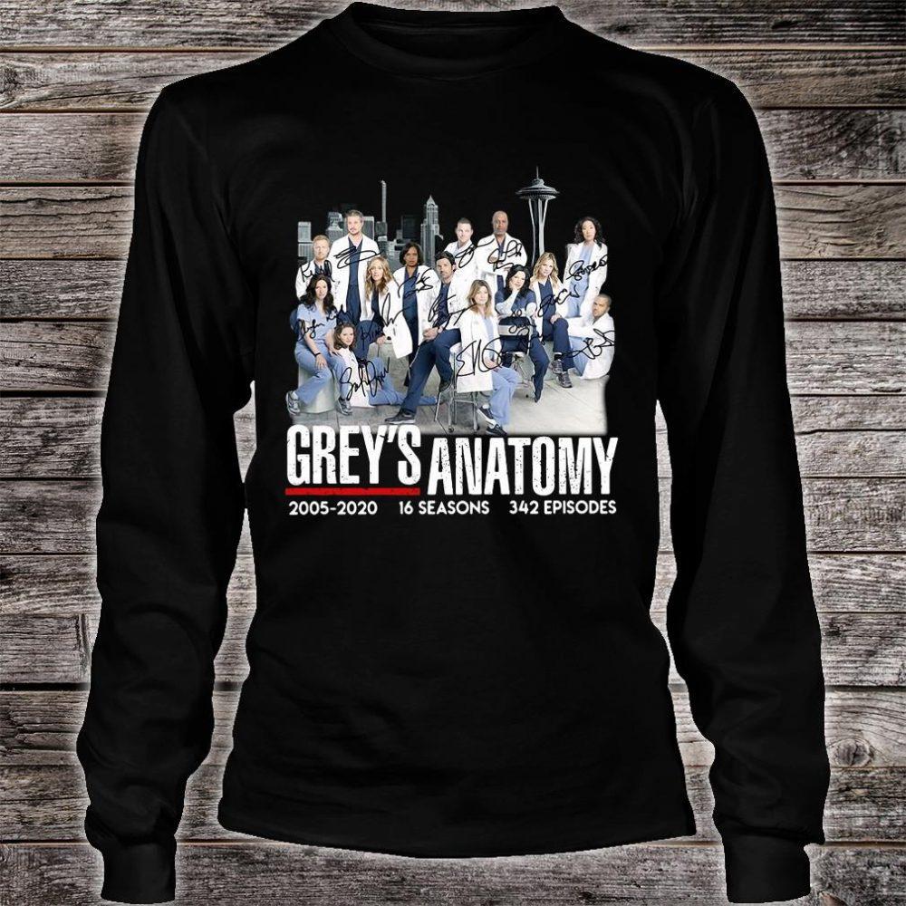 Grey's Anatomy 2005 2020 16 seasons 342 episodes shirt long sleeved